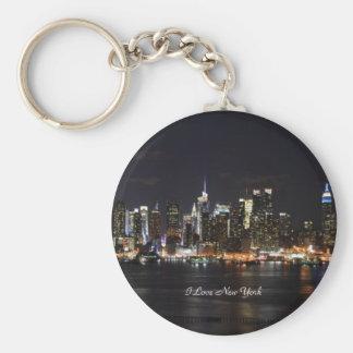 I Love New York, Bright Lights, City Lights Basic Round Button Key Ring