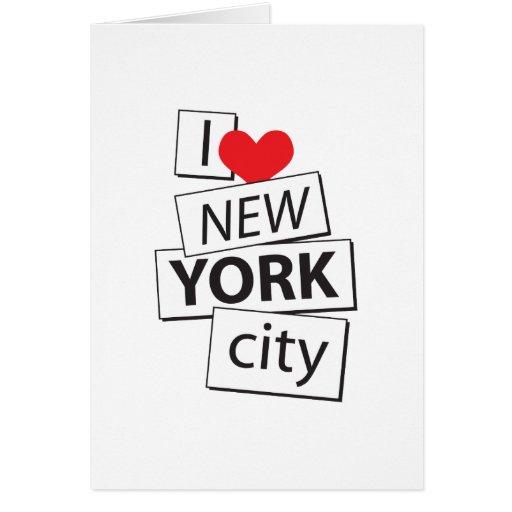 I Love New York City Greeting Card