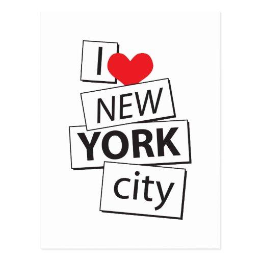 I Love New York City Post Card