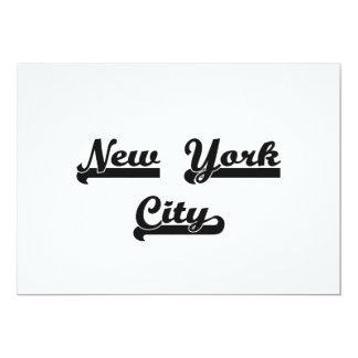I love New York City United States Classic Design 13 Cm X 18 Cm Invitation Card