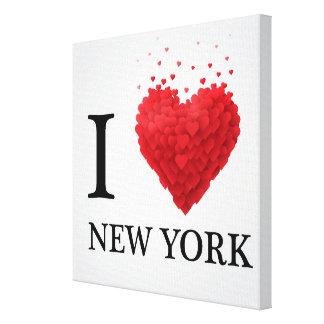 I Love New York Hearts Canvas Print