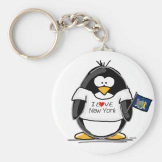 I Love New York Penguin Key Ring