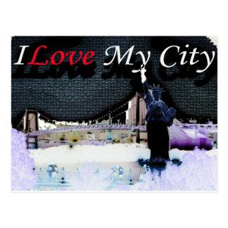 i love new york postcard