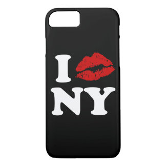 I Love New York | Red Lipstick Kissing Lips xxx iPhone 7 Case