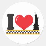 I Love New York Round Sticker