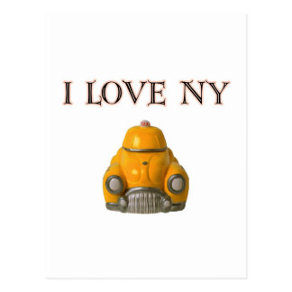 I Love New York Yellow Checkered Taxi Cab Post Card