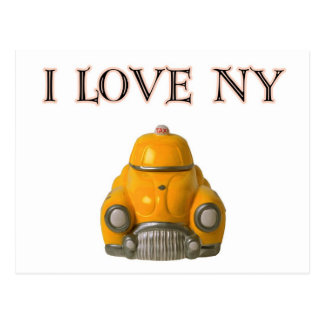 I Love New York Yellow Checkered Taxi Cab Post Cards