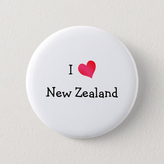 I Love New Zealand 6 Cm Round Badge