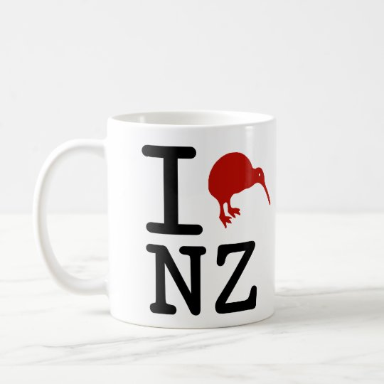 I Love New Zealand Coffee Mug
