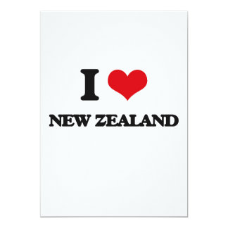 I Love New Zealand 13 Cm X 18 Cm Invitation Card