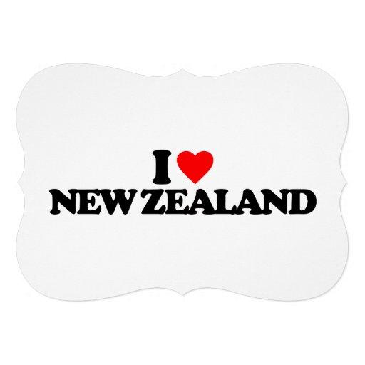 I LOVE NEW ZEALAND CUSTOM INVITE
