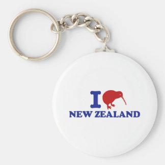 I Love New Zealand Key Ring