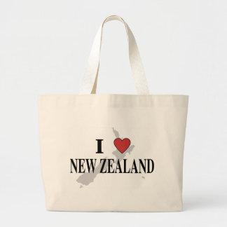 I Love New Zealand Large Tote Bag