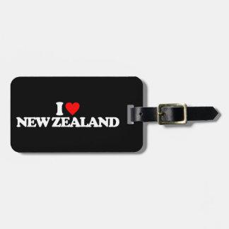I LOVE NEW ZEALAND BAG TAGS