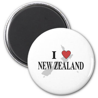 I Love New Zealand Magnet