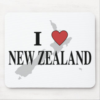 I Love New Zealand Mouse Mat