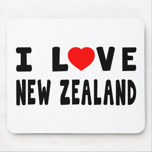 I Love New Zealand Mouse Pad