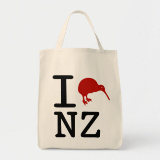 I Love New Zealand Organic Tote Bag