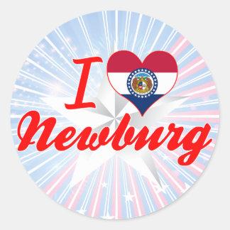 I Love Newburg, Missouri Stickers