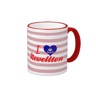 I Love Newellton, Louisiana Ringer Coffee Mug