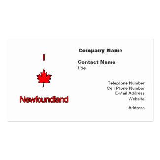 I Love Newfoundland Pack Of Standard Business Cards