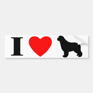 I Love Newfoundlands Bumper Sticker