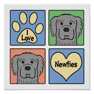 I Love Newfoundlands Poster