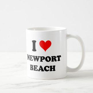 I Love Newport Beach California Coffee Mugs