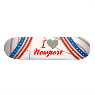 I Love Newport, Delaware Skate Board Deck
