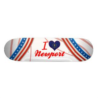 I Love Newport, Indiana Skate Board