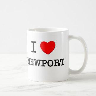 I Love Newport Massachusetts Coffee Mugs