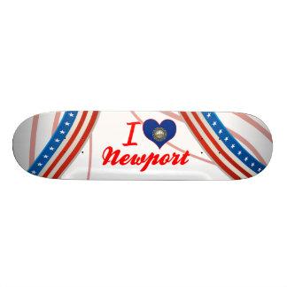 I Love Newport, New Hampshire Skate Board Deck