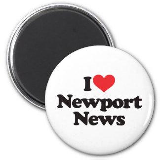 I Love Newport News 6 Cm Round Magnet