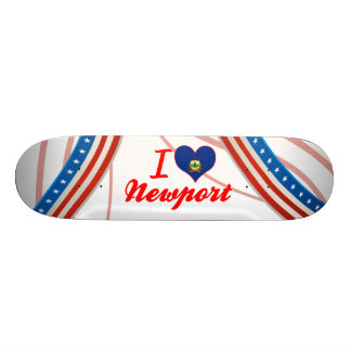 I Love Newport, Vermont Skate Board Deck