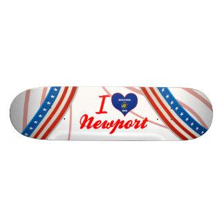 I Love Newport, Wisconsin Skateboard Decks