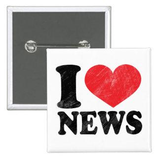 I Love News 15 Cm Square Badge