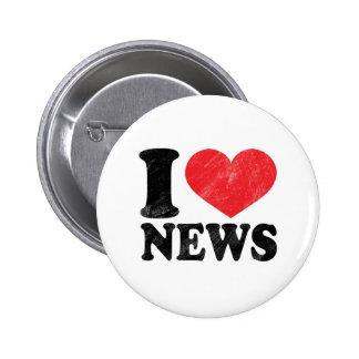 I Love News 6 Cm Round Badge