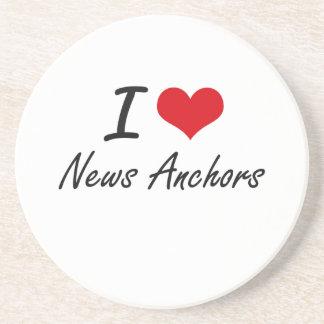 I Love News Anchors Coasters