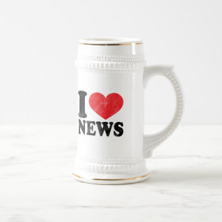 I Love News Beer Stein