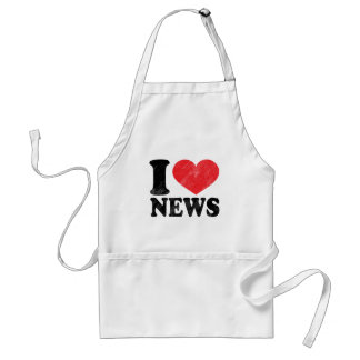 I Love News Standard Apron