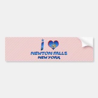 I love Newton Falls, New York Bumper Sticker