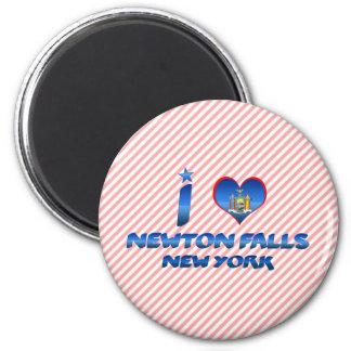 I love Newton Falls, New York 6 Cm Round Magnet