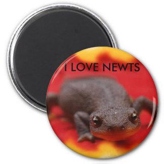 I Love Newts Refrigerator Magnet