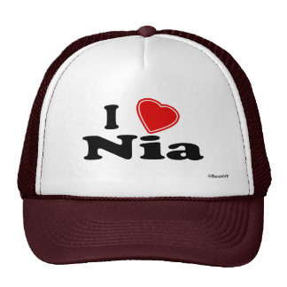 I Love Nia Hat