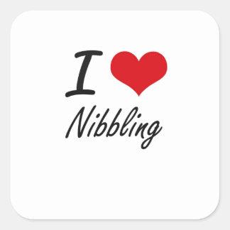 I Love Nibbling Square Sticker