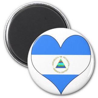 I Love Nicaragua 6 Cm Round Magnet