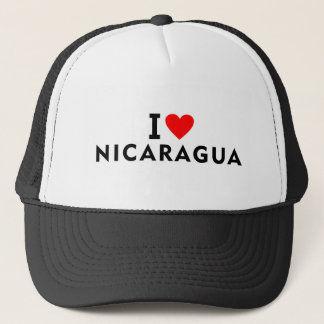 I love Nicaragua country like heart travel tourism Trucker Hat