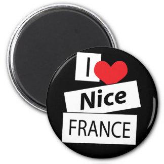 I Love Nice France Magnet