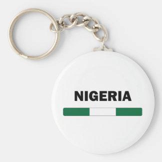 I Love Nigeria Basic Round Button Key Ring