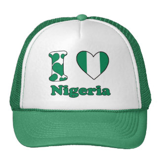 I love Nigeria Trucker Hats